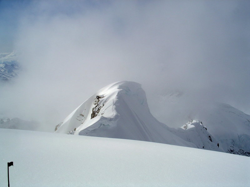 Rock Climbing Photo: Looking back down the original (Beckey) Route from...