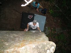 Rock Climbing Photo: Ben on the opening moves on Nameless on a nice sum...
