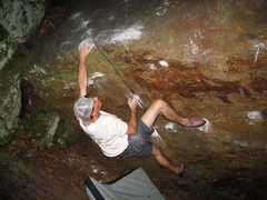 Rock Climbing Photo: Ben on Outta Dodge, trying to ignore the skeeters ...