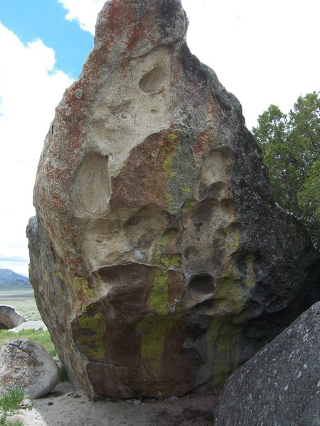 Here is a cool looking boulder problem on a nearby boulder.