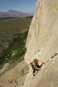 Rock Climbing Photo: Caroline on the amazing pitch 3. (p-2 of Cucumbers...