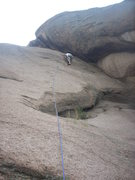Rock Climbing Photo: Morgan leading a route to the right of Tin Can All...