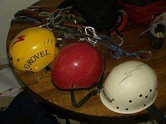 Rock Climbing Photo: Helmets