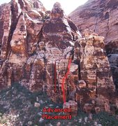 Rock Climbing Photo: Advanced Placement goes up the wide crack, then tr...