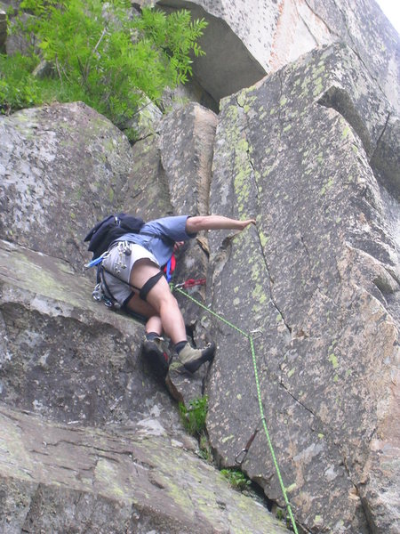 Rock Climbing Photo: Bradley White leading the second pitch. Photo by T...