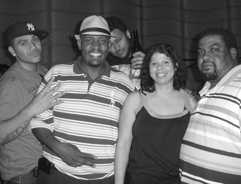 Crazy crew.<br> Sheesh...Do I really work with these guys? Oh well@SEMICOLON@Gotta love them.<br> <br> Vino, Calvin, Robert, Angie, and Tariq at the Rocks Lounge at RR casino 7/25/08.<br> <br> Good peeps@SEMICOLON@ they're a riot. @SEMICOLON@ )