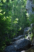 Rock Climbing Photo: Waterfall at New Wave.