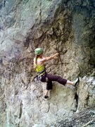 Rock Climbing Photo: Beginning of route-- probably 5.10c if you include...