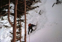 Rock Climbing Photo: Mt. Lincoln Ice: Colorado 1978  Topping out on a m...