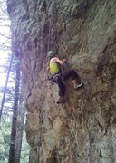 Rock Climbing Photo: I never managed to climb this whole route, but did...