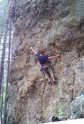 Rock Climbing Photo: Daryl scouts out a new route-- climbing-- yay!!! H...