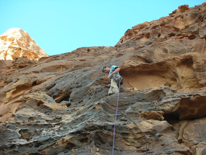 Rock Climbing Photo: Res during the FA of The Minimalist, a bold new li...