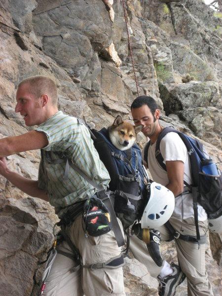 Rock Climbing Photo: John and Kane bringing Badu to the Orifice Wall