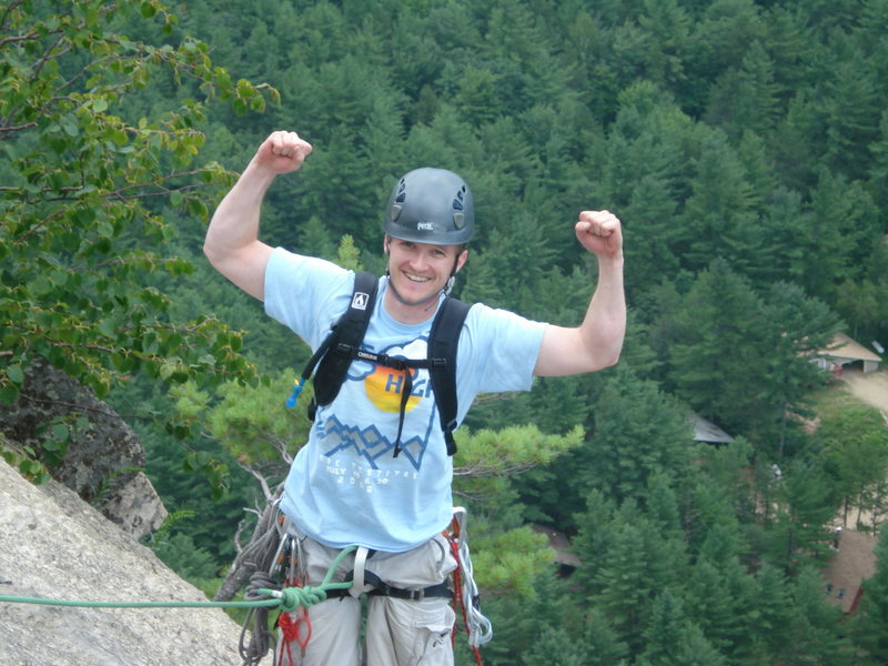 feeling triumphant at the top of cathedral ledge!