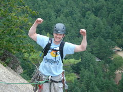 Rock Climbing Photo: feeling triumphant at the top of cathedral ledge!
