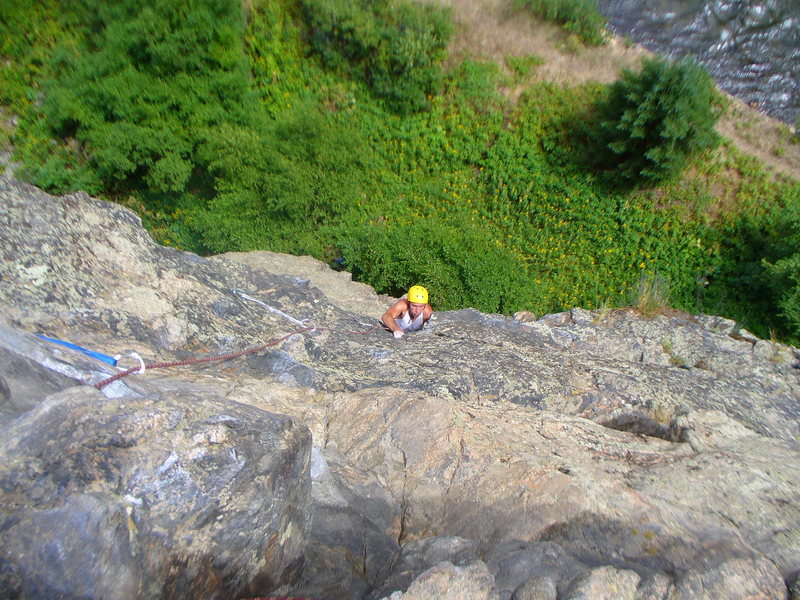 Rock Climbing Photo: going over the crux!