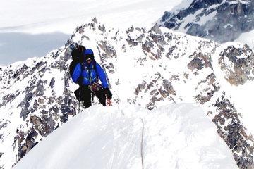 On the West Ridge of Mt Hunter Alaska Range