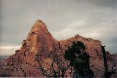 Rock Climbing Photo: The Just Another BBQ Tower. The route takes the ce...