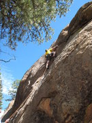 Rock Climbing Photo: Brian Quiter on his way to the clean send of Digit...