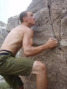 Rock Climbing Photo: standing up through the scrunch on 'Floral Designs...