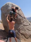 Rock Climbing Photo: Eting (sic?) bouldering the Butt Plug with Sean sp...