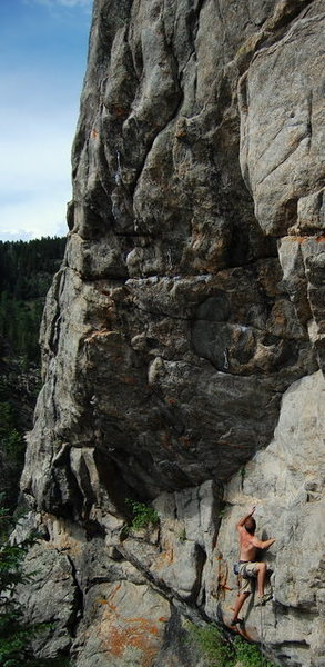 "Rock Climbing Photo: Jeff in the ""5.9"" section - photo of the..."