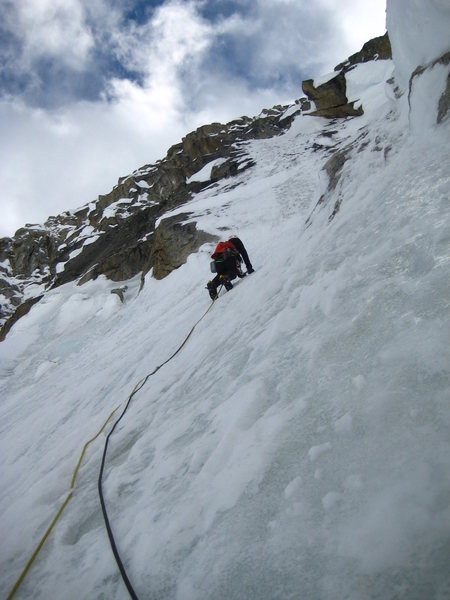 Brad on lower portion of Peak 11,520', east ridge of Mt. Hunter