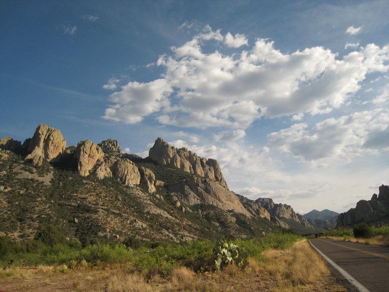 The road behind me.<br> Portal, AZ <br> June 2008