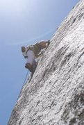 Rock Climbing Photo: Mike Graham the crux P2/2008 Photo from stonemaste...
