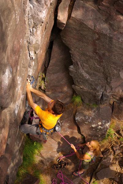 Rock Climbing Photo: Henning Boldt leading Catenary. July '08.