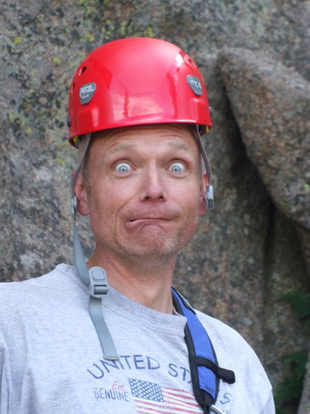 Rock Climbing Photo: Theo gearing up for Easy Jam and Cornelius, after ...
