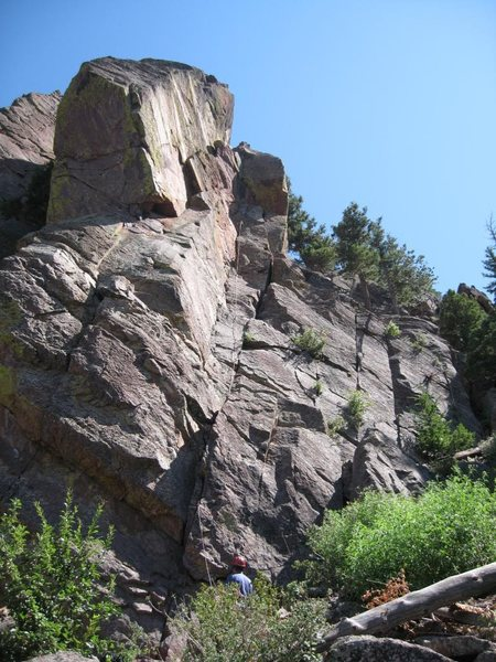 Rock Climbing Photo: Ghetto Cruiser route on Fin 1.