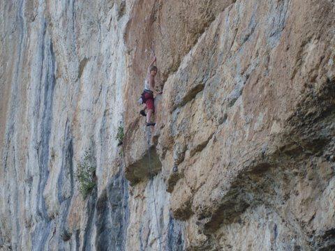 Rock Climbing Photo: Climbing 11c at Capusin
