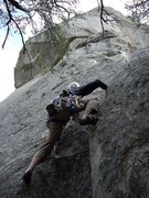 Rock Climbing Photo: Starting up the route Skyline at City of Rocks, ID...