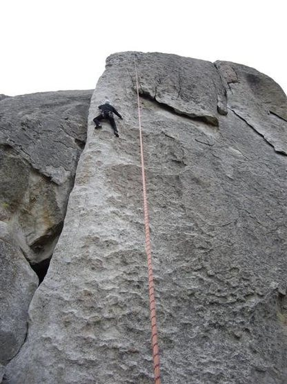 Topropoing on some route at City of Rocks.