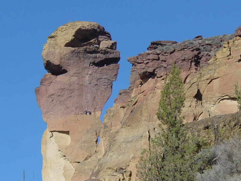 The Monkey Face at Smith Rocks State Park.