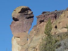 Rock Climbing Photo: The Monkey Face at Smith Rocks State Park.