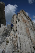 Rock Climbing Photo: On the Matthes Crest.