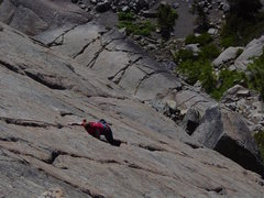 Rock Climbing Photo: My wife climbing Kindergarten crack at Donner Summ...