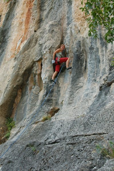 Rock Climbing Photo: Ropegunning 11a