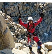 Rock Climbing Photo: Topping-out the Mendel couloir.