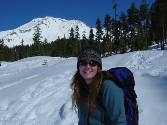 During a ski descent from Bunny Flat to McBride Springs--Mt.Shasta, CA.