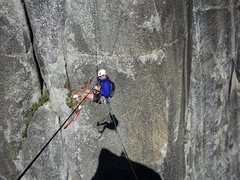 Rock Climbing Photo: Doing the tyrolean traverse on the Lost Arrow Spir...