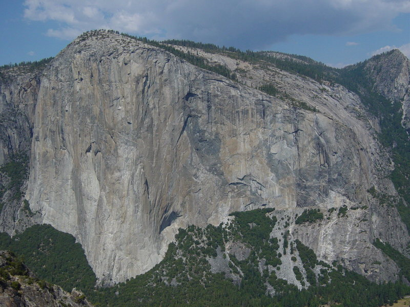 El Capitan as seen from the summit of Middle Cathedral Spire.