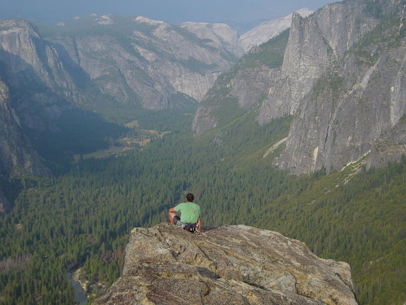 Yosemite Valley looking East as seen from the summit of Higher Cathedral Spire.