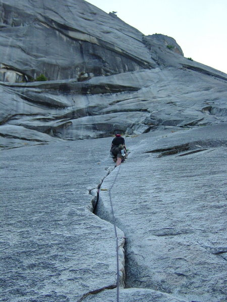 "Rock Climbing Photo: Climbing ""The Grack"" on the Glacier Poin..."