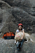 Rock Climbing Photo: Eugenia poses with long-time local and San Ysidro ...