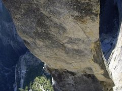 Rock Climbing Photo: Looking down to the notch on the Lost Arrow Spire ...