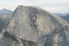 Rock Climbing Photo: Half Dome as seen from above North Dome.