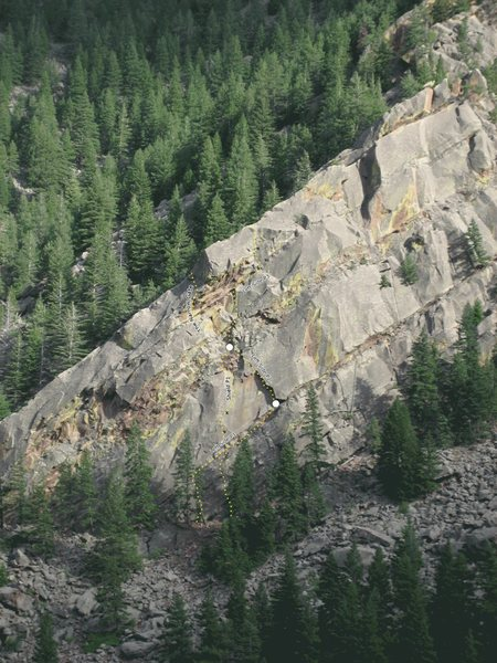 Rock Climbing Photo: The Narrow Gate location.